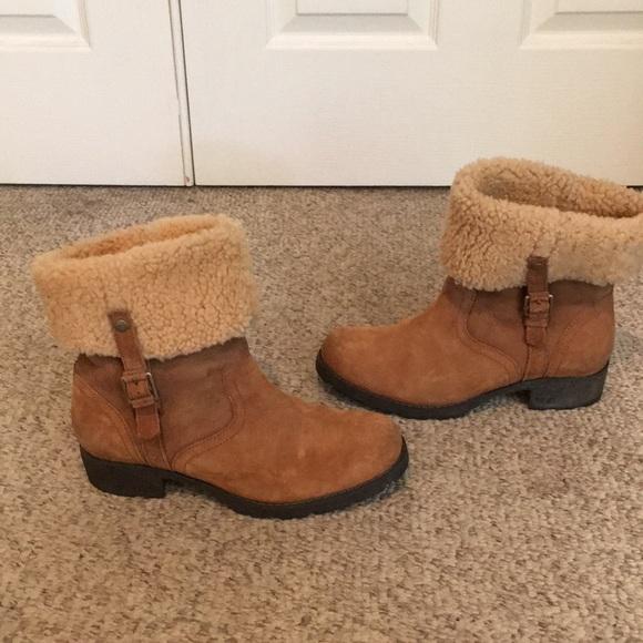 7b1500044e1 Ugg Tan Bellevue 11 Sheepskin Winter Boots #1918